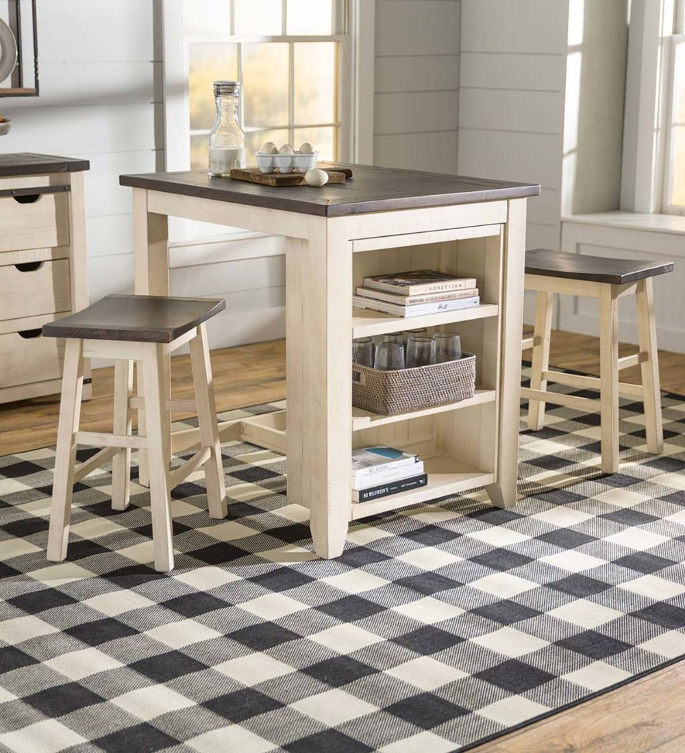 Cape Charles Dining Set Is Made Of Reclaimed Pine In White With Barn Wood Tops On Table Stools Dining Set House Inspiration Cape Charles