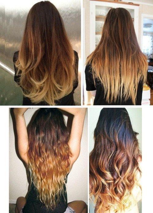 Caramel/blonde ombré hair