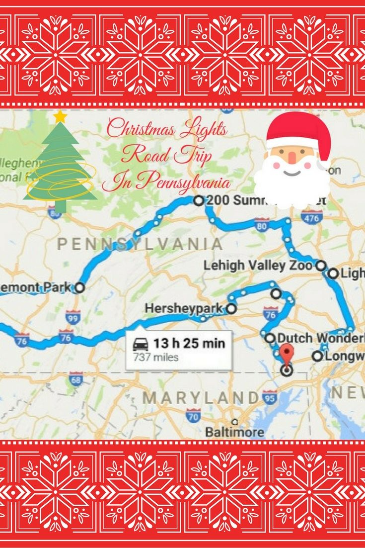 The Christmas Lights Road Trip Through Pennsylvania That\'s Nothing ...