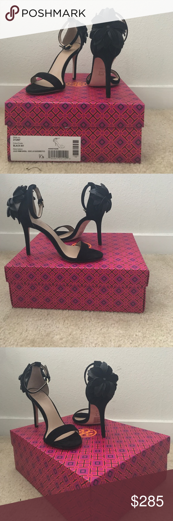 87d6491a2 Tory Burch SOHO Lux Suede Jules 100MM Sandal BRAND NEW! NEVER worn heel  from their