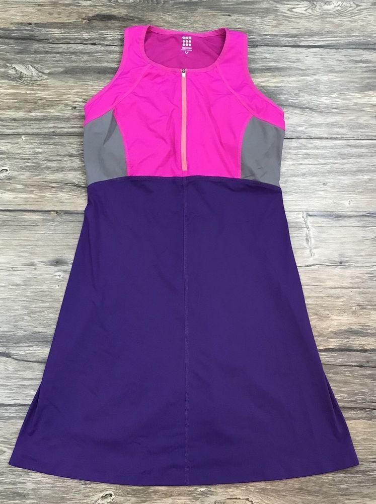 Title Nine CToC Diamalete Color Block Athletic Bra Dress