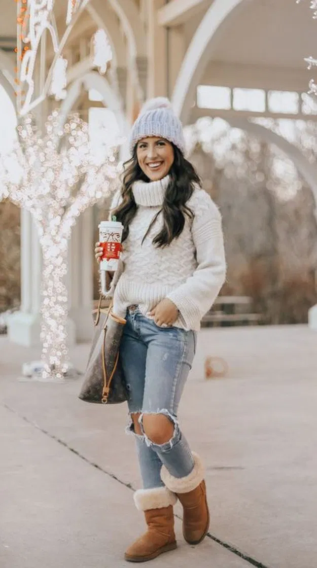 25 cute outfits to wear with uggs boots this winter 3 in ...