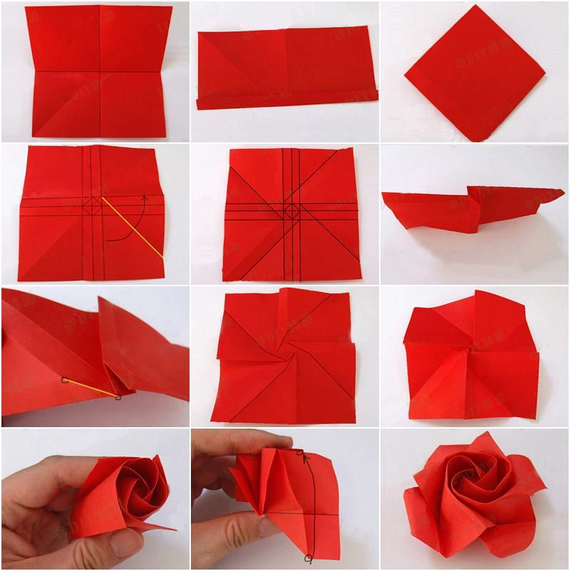Paper rose craft ideas d i y pinterest origami for Diy paper origami