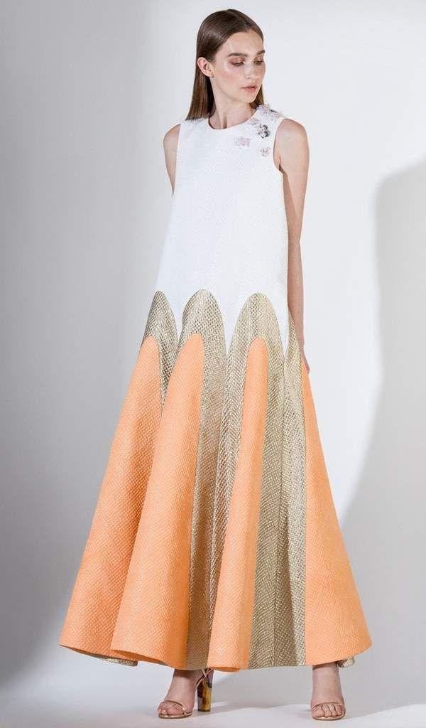 Saiid Kobeisy 3443 Loose Fitting Brocade Long Formal Dress In 2018