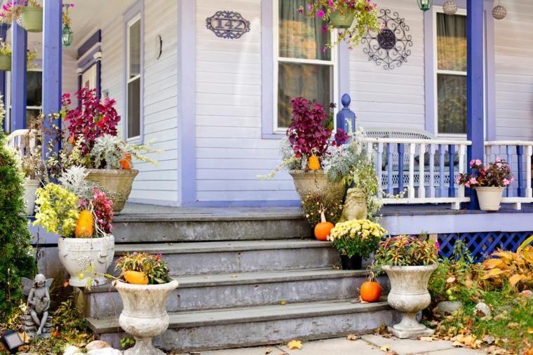 Deco terras en balkon in de geest van de herfst deco