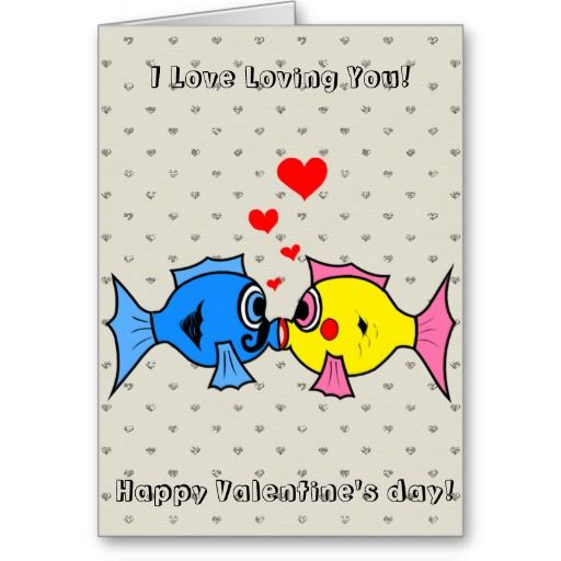 Happy Valentines Day Funny Fishes Kissing Funny Pinterest