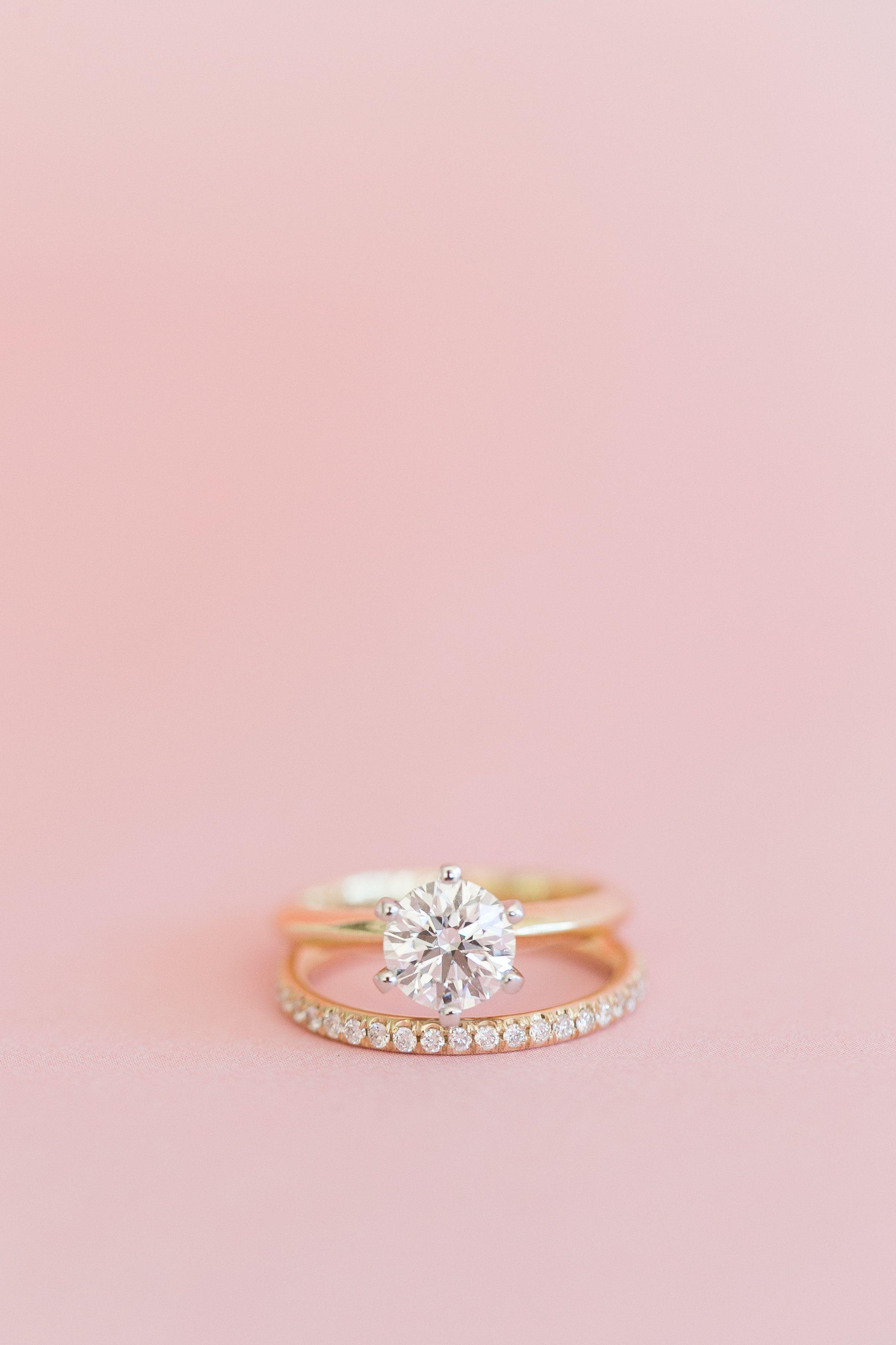Beautiful gold engagement + wedding ring #engagementrings | My ...