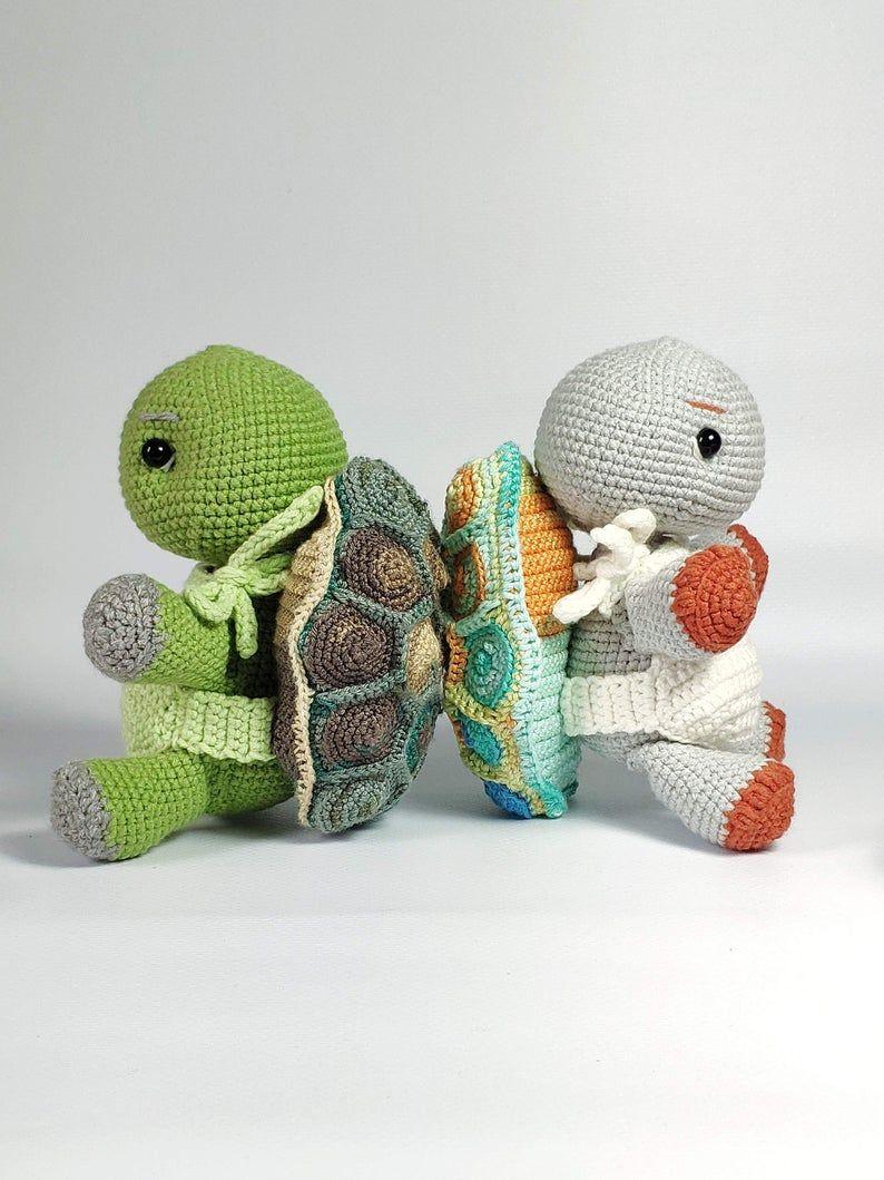 Turtle toy pattern, turtle tutorial, mosaic turtle, cute crochet turtle, baby turtle pattern, soft toy turtle