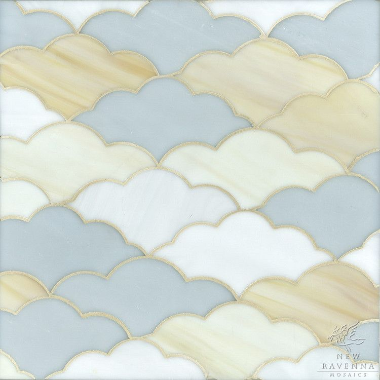 Erin Adams Clouds shown in Opal, Agate and Moonstone for New Ravenna Mosaics.