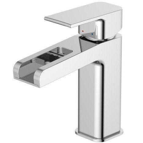 Mitigeur de lavabo cascade chromé brillant, SENSEA Samar ...