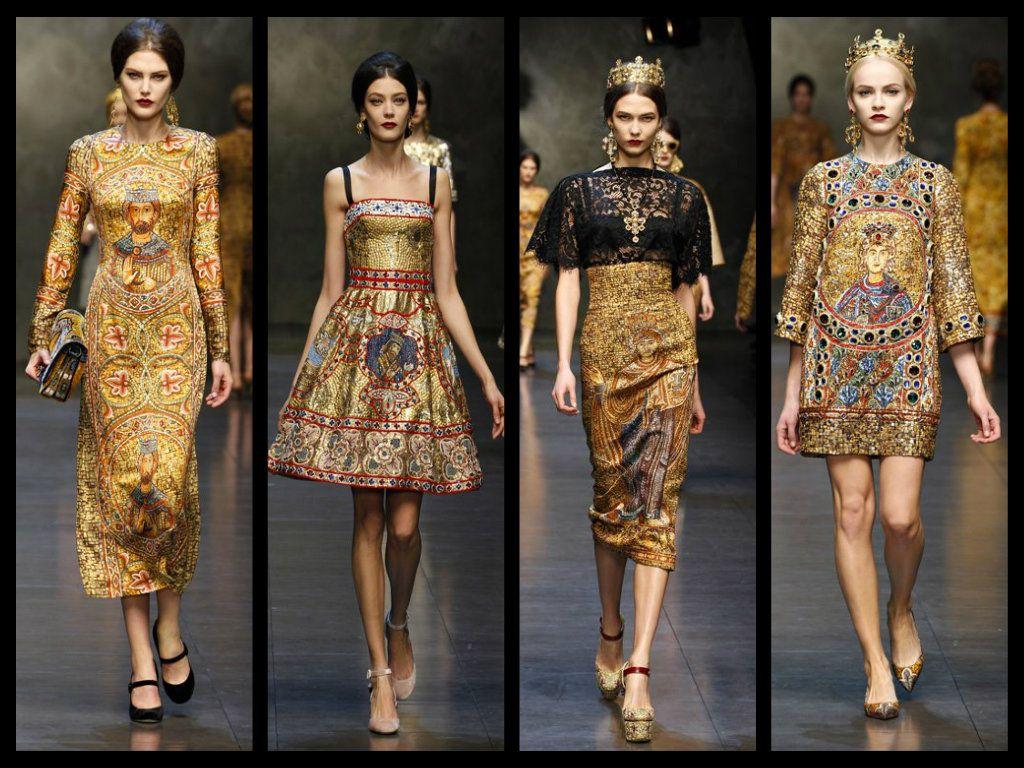Dolce Gabbana Collezione Autunno Inverno 2013 2014 Abiti Mosaico Milano Fashion Week Fashion
