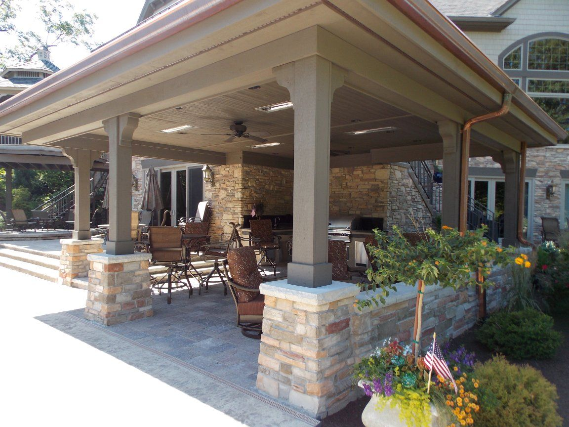 photos of outdoor living | The addition of hardscaping is an ...