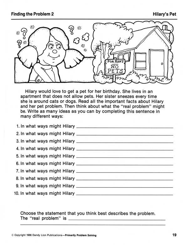 Prufrock Press Primarily Problem Solving Creative Problem – Social Problem Solving Worksheets
