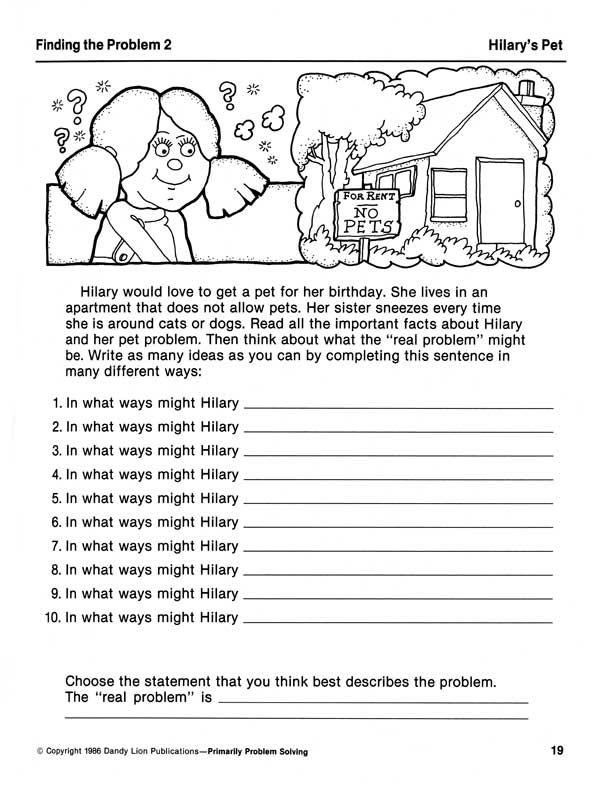 Primarily Problem Solving Creative Problem Solving Activities Grades 2 4 Problem Solving Activities Creative Problem Solving Activities Problem Solving Worksheet