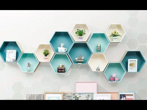 Membuat Rak Buku Di Dinding Dengan Kardus Bekas Diy Home Decor Youtube Rumah Diy Tutorial Membuat Perhiasan Kardus