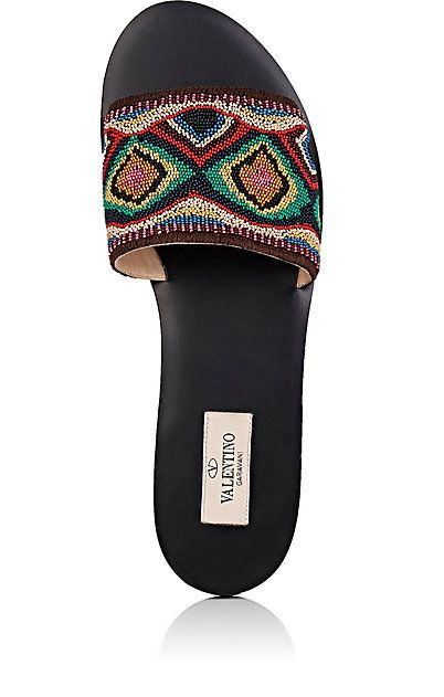 Beaded slides Valentino