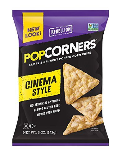 Popcorners Cinema Style Butter Popped Corn Chips 5oz12 Pack Click Image To Review More Details Chips Corn Chips Popcorn Chips