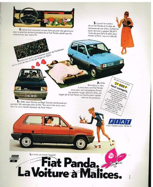 afficher l 39 image d 39 origine fiat panda pinterest panda voiture et voitures anciennes. Black Bedroom Furniture Sets. Home Design Ideas