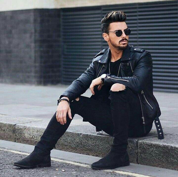 ideas para combinar botas negras hombre