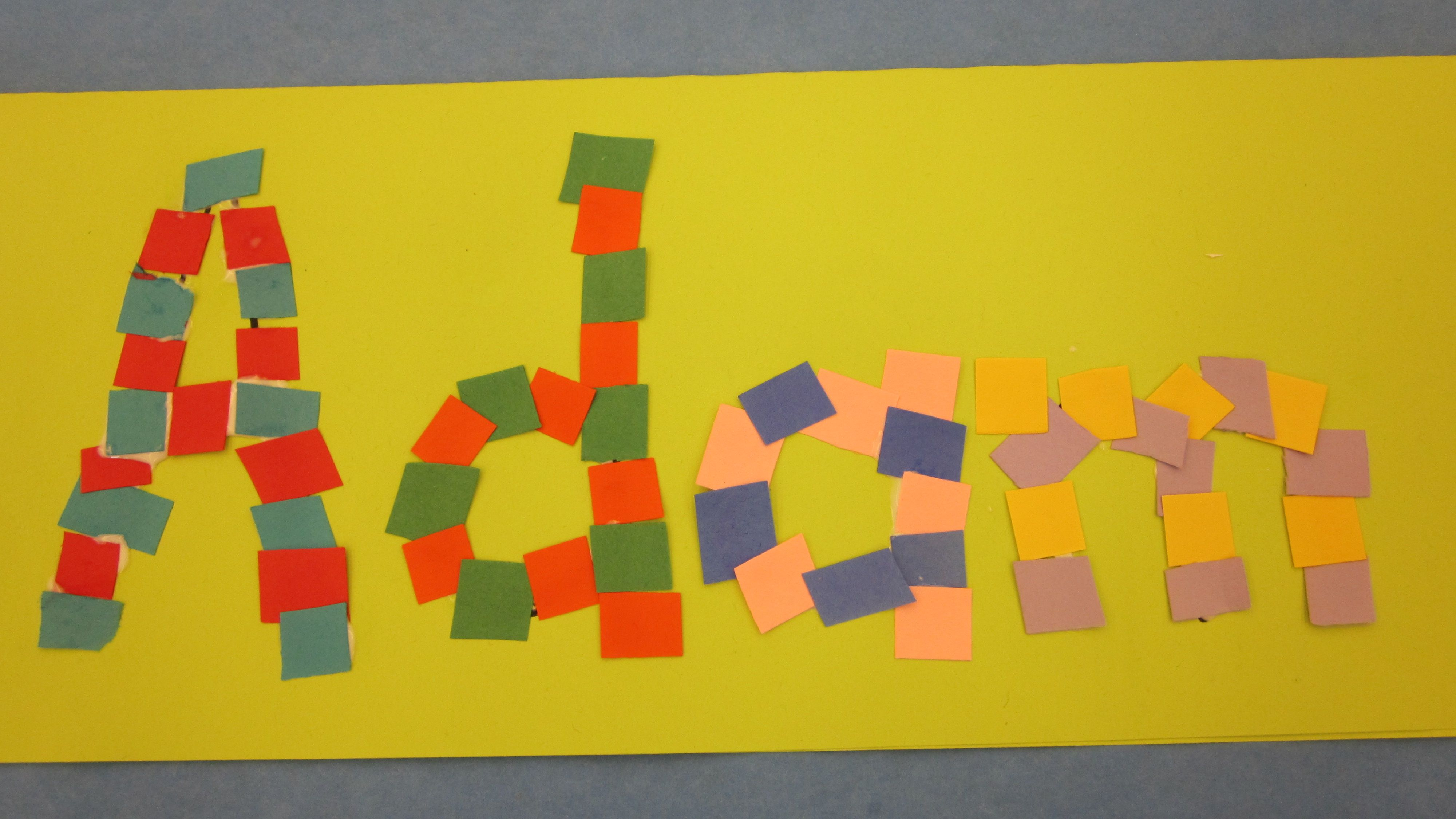Craft Project Nameplate Mosaics Welcome To Preschool Name Crafts Kindergarten Art Lessons