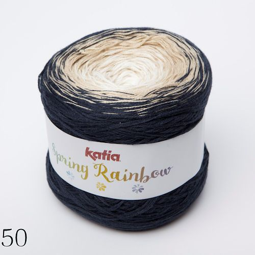 Katia Spring Rainbow, yarn cake that will knit a shawl from just 1 ...
