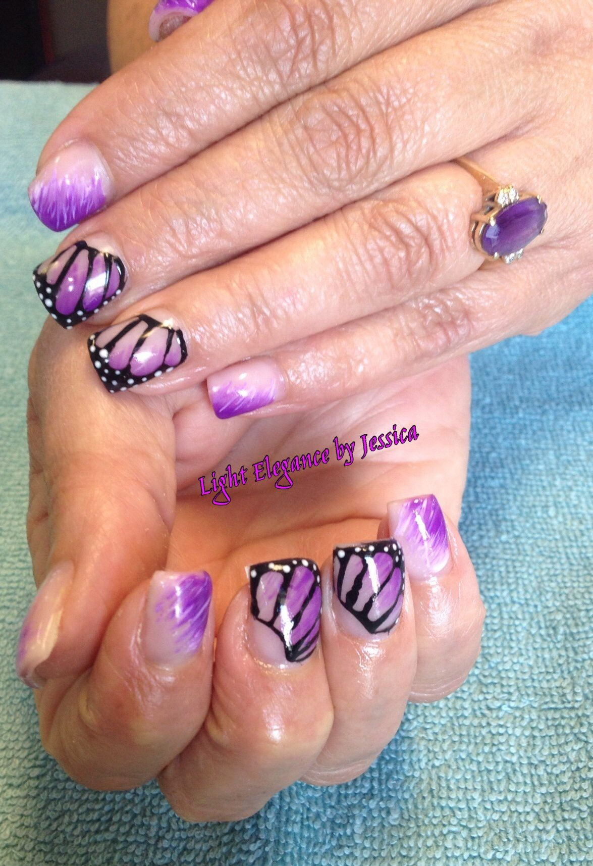 Light Elegance Gel Nails by Jessica in Salem Oregon. Purple and nude ...