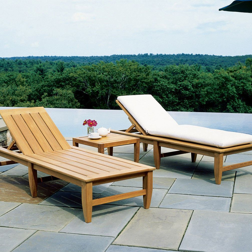 Kingsley Bate Amalfi Poolside Chaise Lounge