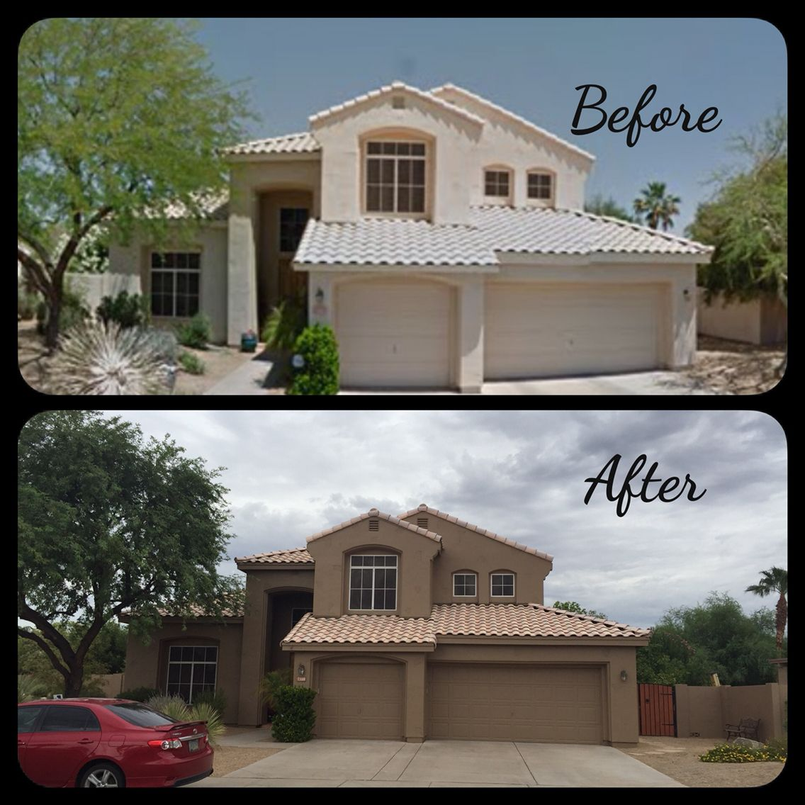 Crazy what a paint job can do for your home love our new - Dunn edwards paint colors exterior ...