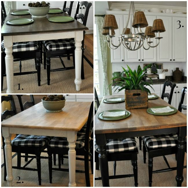 Uberlegen Farmhouse Wood Kitchen Table Makeover   The Endearing Home Wohnzimmer,  Selbermachen, Bemalter Esstisch,