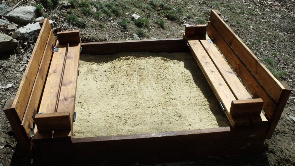 Sandbox With Bench Seats Do It Yourself Home Projects