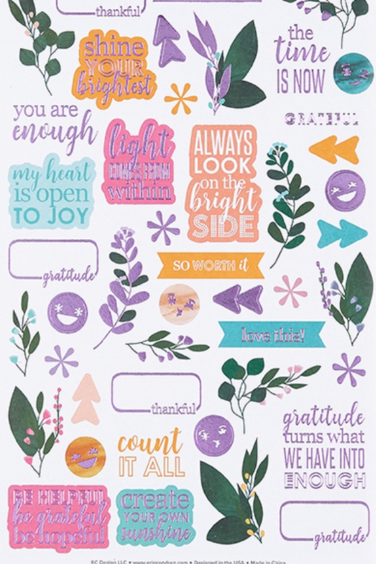 30 Motivational Quote stickers for Planner scrapbook diary calendar journal