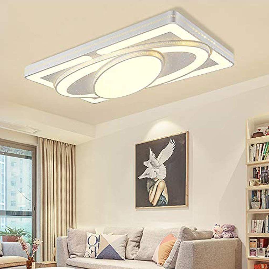 Deckenlampe Led Deckenleuchte 90w Wohnzimmer Lampe Modern Deckenleuchten Kueche Badezimmer Flur Schlafzimmer Weiss 90w Warmweiss Bele Home Decor Decor Furniture