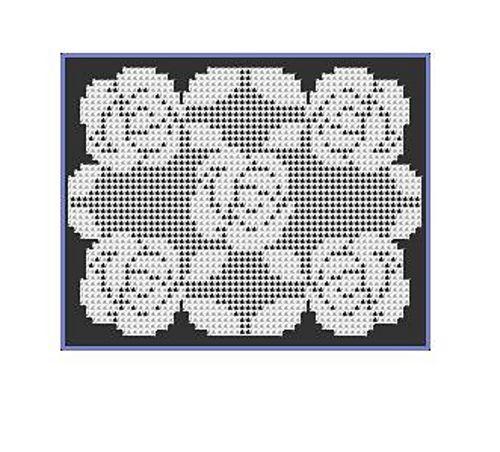 Filet Crochet Roses Doily Pattern By Stitchmeknot Crochet Roses