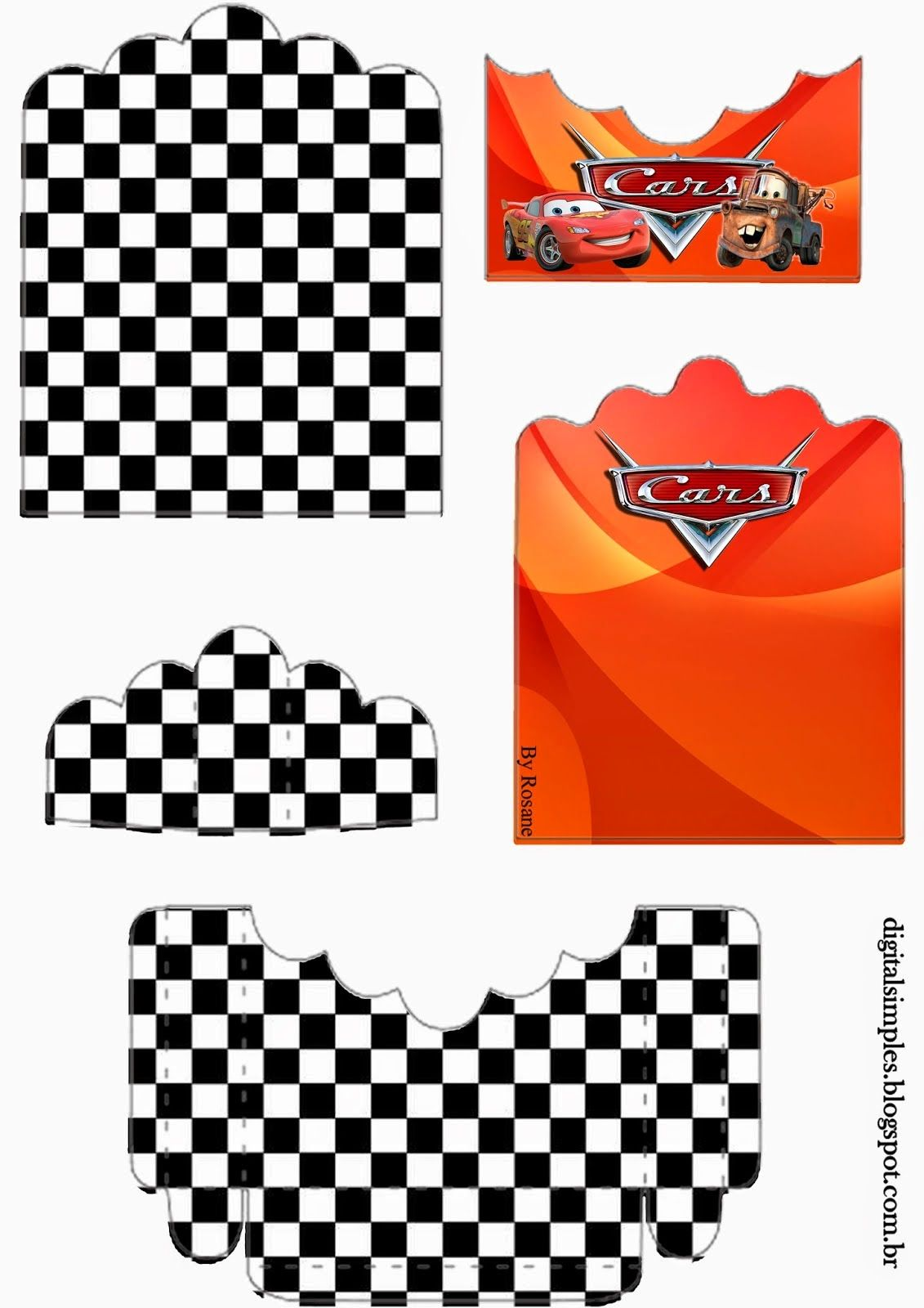 Cars: Free Printable Candy Packages Support. | fête auto course ...