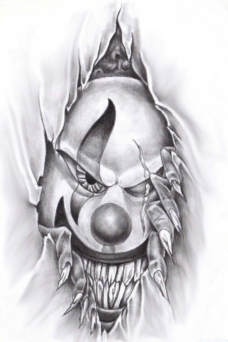 Desenho Palhaço Tatuagem tattoo palhaÇo macabro | tatuagem de palhaço, desenhos para