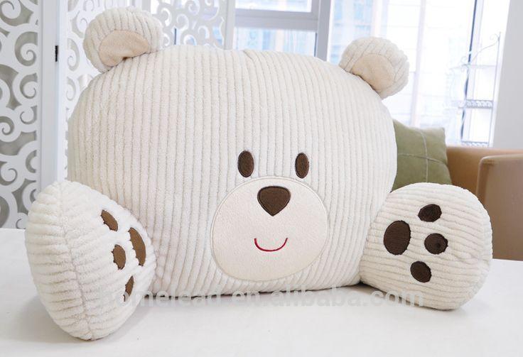 Stuffed Bear Character Throw Pillow