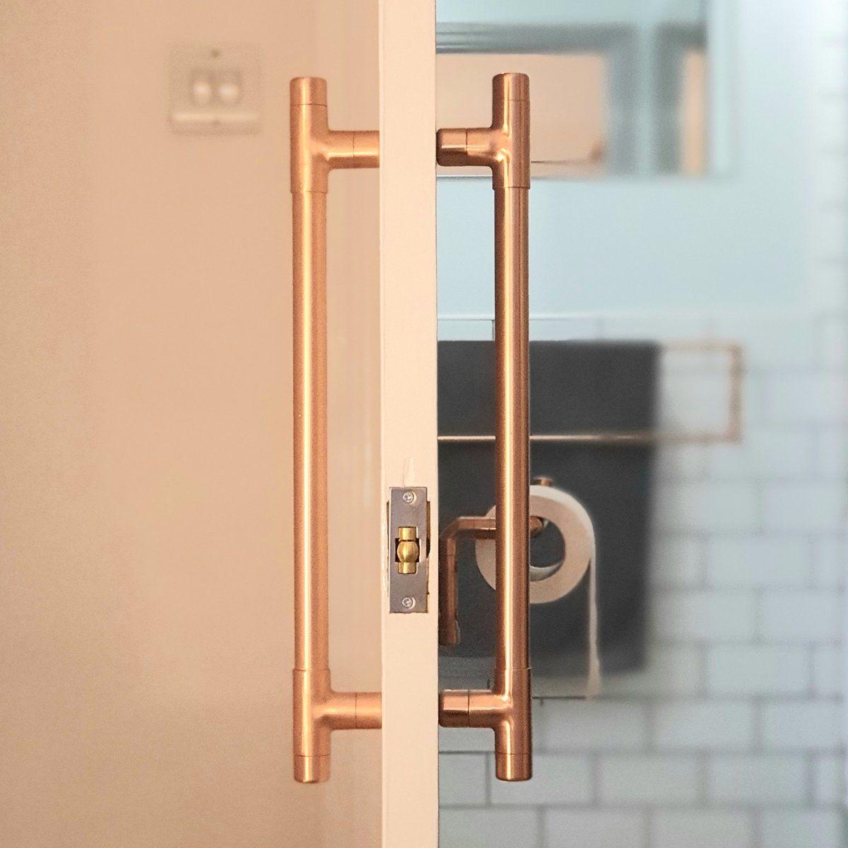 Stance Copper Door Handle Door Handles Copper Handles Black Door Handles