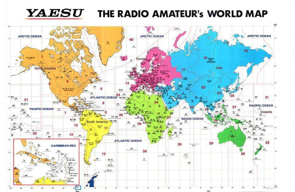 Ham Radio call map, by Yaesu Ham Radio Pinterest Ham radio - copy world map pdf file
