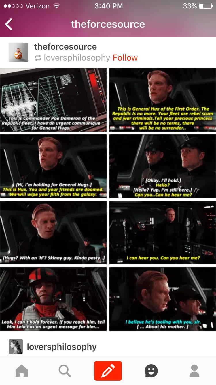 Commander Poe Dameron Irritating General Hux Star War Viii Last