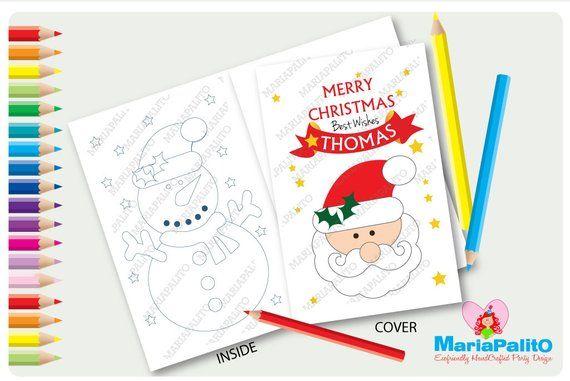 Coloring Book Christmas Coloring Books 6 Santa Merry Christmas