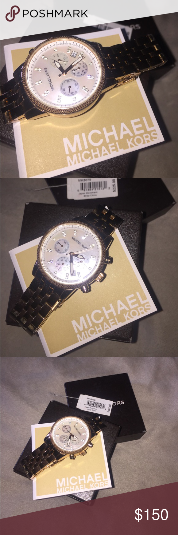MICHAEL KORS WATCH This is a beautiful Rose gold Michael KORS watch. Used only a few times. There are minimal very light searches as shown in the pictures. This was a gift but is to large for my wrist. Michael Kors Accessories Watches