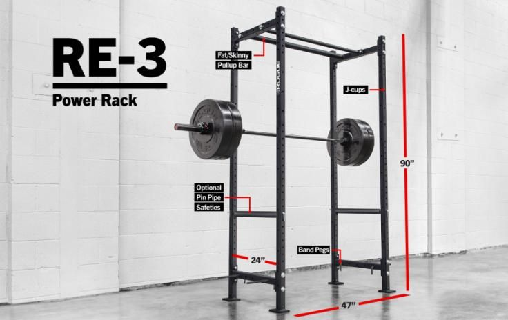 Rogue Re 3 Echo Rack Weight Training 2x2 11 Gauge Steel At Home Gym Rack Power Rack