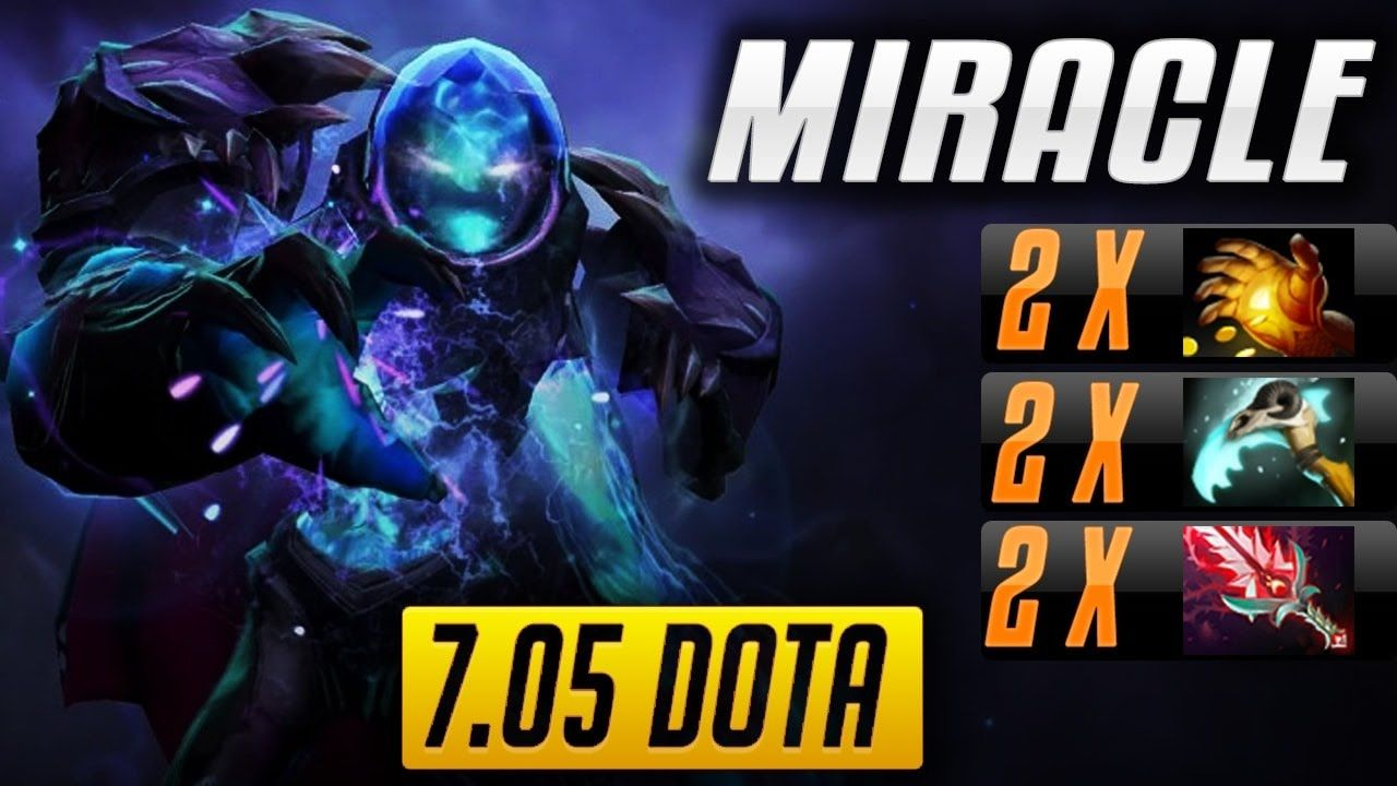 Miracle plays Arc Warden in 7 05 Dota 2 Patch | Double Midas