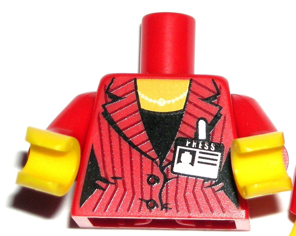 Lego Minifig Yellow Legs x 1 Red Swimsuit Pattern for Minifigure