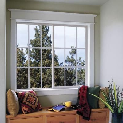 Jeld Wen 60 In X 48 In V 2500 Series Bronze Finishield Vinyl Right Handed Sliding Window With Colonial Grids Grilles Thdjw138500205 The Home Depot Sliding Vinyl Windows Window Vinyl Sliding Windows