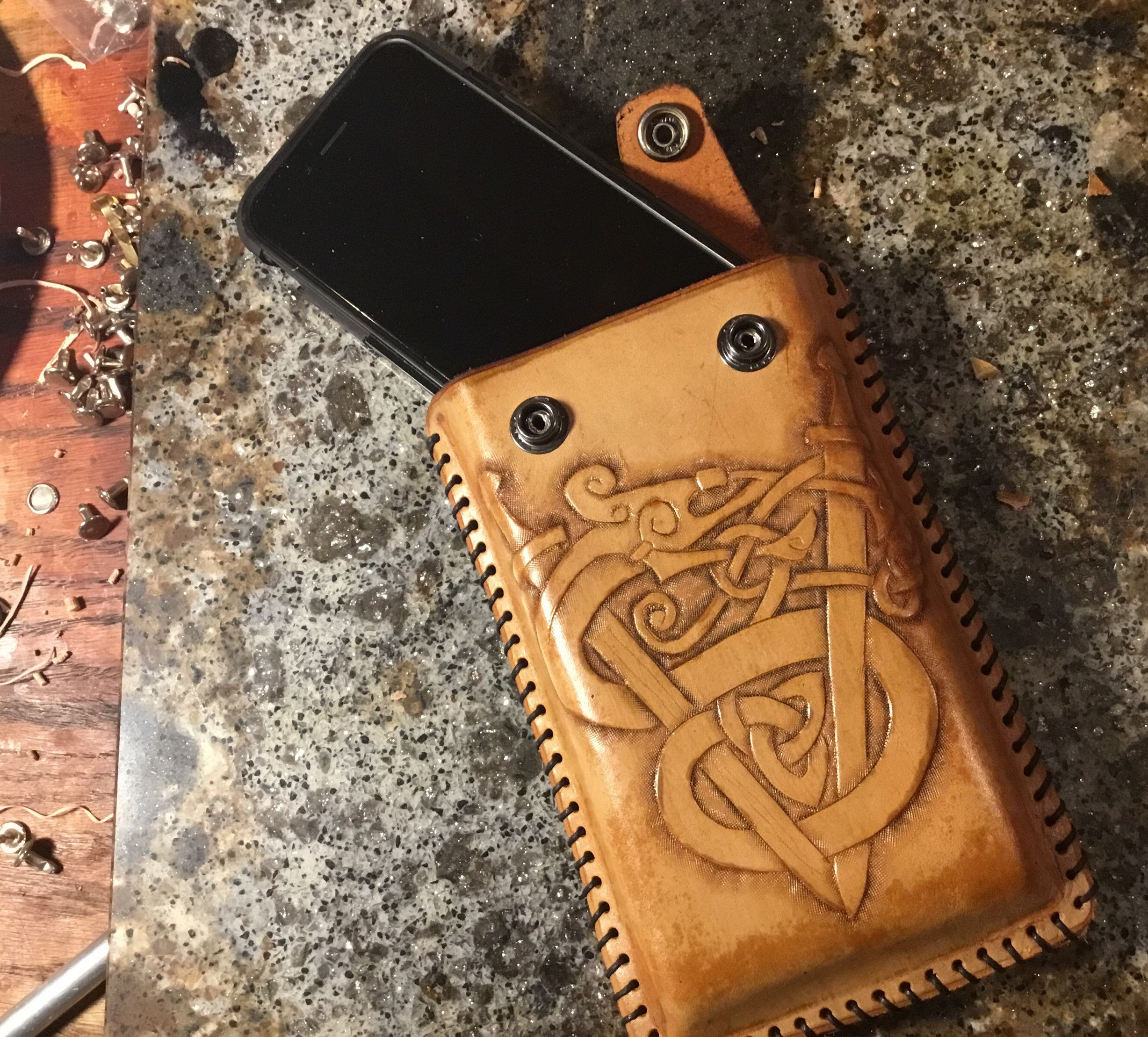 Cell Phone Holder Viking Leather Leather Cell Phone Cases Cell