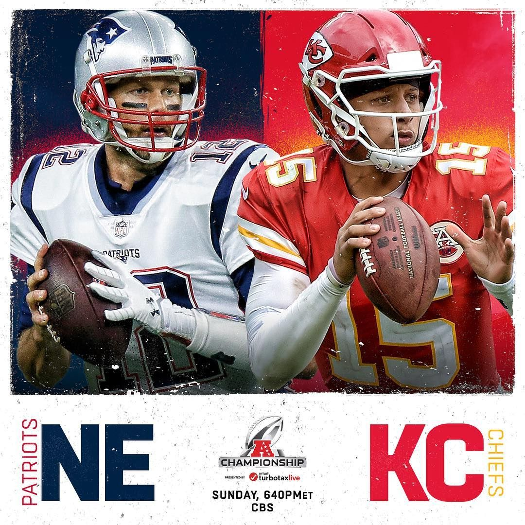 Nfl On Instagram It Ll Be Decided In Arrowhead Patriots Chiefs Afc On The Line Nevskc Sund Afc Championship Kansas City Chiefs Football Patriots