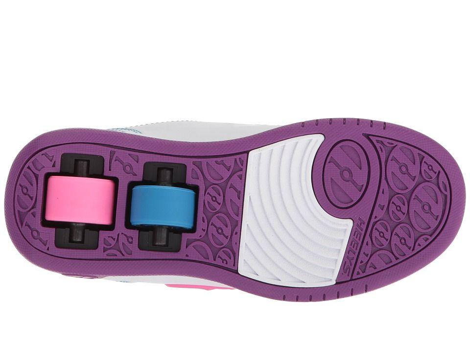 GENUINE Heelys Dual Up White// Purple// Neon