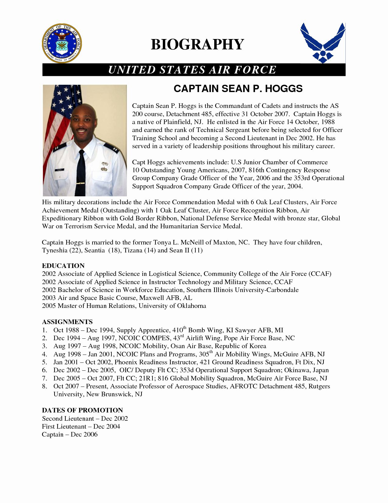 Army Board Biography Example Unique 24 Of Army Biography