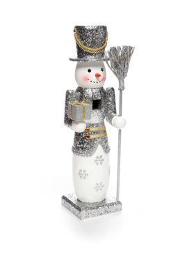 Home Accents  14-in. Glitter Snowman Nutcracker
